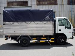 Báo giá xe tải Isuzu 1.4 tấn thùng mui bạt nhiều ưu đãi khuyến mãi
